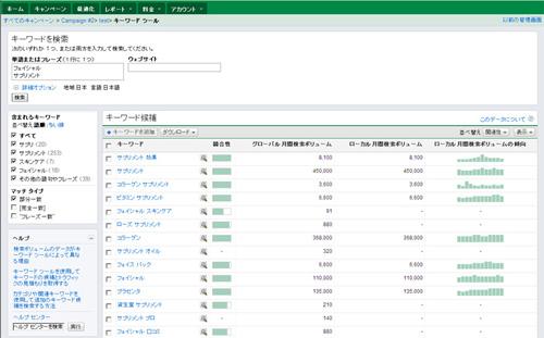 Googleモバイル検索ボリュームを調べる方法